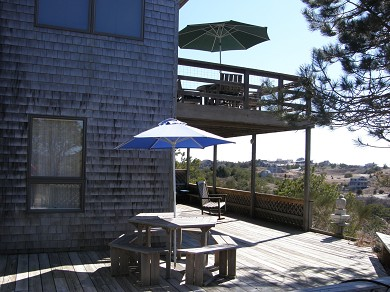 Truro Cape Cod vacation rental - Lower deck