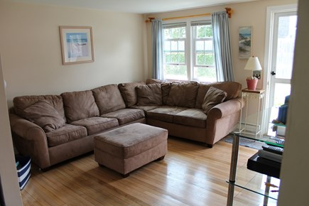 Dennis Port Cape Cod vacation rental - Living room with sleep sofa, TV, Satellite, and DVD