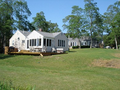 Eastham Cape Cod vacation rental - Expansive yard leads directly to water