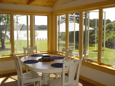 Eastham Cape Cod vacation rental - Dining area with water view