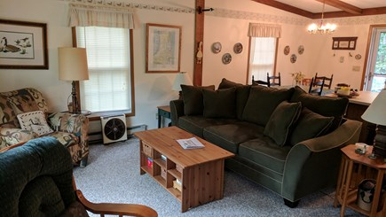 North Eastham Cape Cod vacation rental - Living Room - front part of open living area