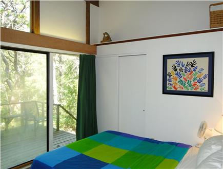 Wellfleet Cape Cod vacation rental - Large queen bedroom, with desk, sliders to deck