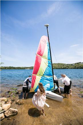 Dennis, Scargo Lake Cape Cod vacation rental - Go sailing on Hobie Wave Catamaran.  Kayak and canoe avail.