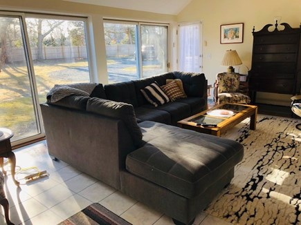 Dennis, Scargo Lake Cape Cod vacation rental - Great Room with marble floors, skylights, slidingdoors, AC