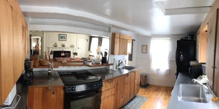 Dennis, Scargo Lake Cape Cod vacation rental - Kitchen that opens to a second, 18th century dining room.