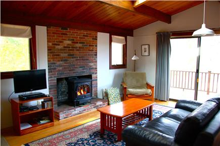 Wellfleet Cape Cod vacation rental - Living Room, skylight, cable TV, internet, deck