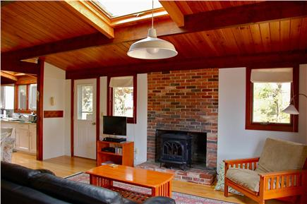 Wellfleet Cape Cod vacation rental - Living Room, looking back towards kitchen