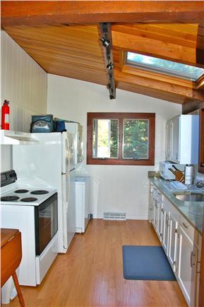 Wellfleet Cape Cod vacation rental - Kitchen, skylight, stove, microwave