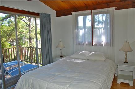 Wellfleet Cape Cod vacation rental - 1st bedroom, queen bed, slider to deck