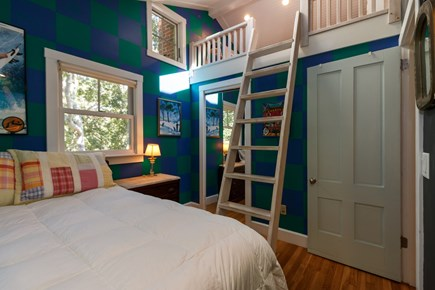 Truro Cape Cod vacation rental - Double bed with ship's ladder to double size futon sleeping loft