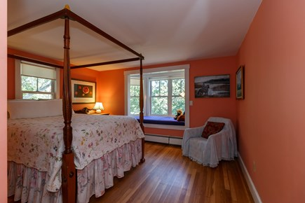 Truro Cape Cod vacation rental - Queen size bed with sleep-size window seat