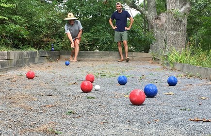 Truro Cape Cod vacation rental - Our bocce court has seen many intergenerational contests.