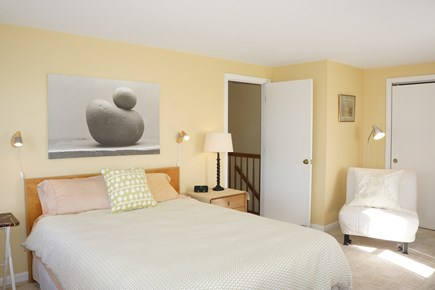 Truro Cape Cod vacation rental - Master Bedroom (full bath adjoins, water view)