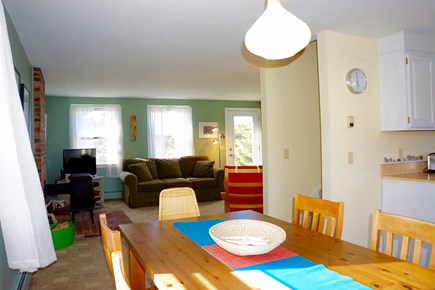Truro Cape Cod vacation rental - Dinning Space into Living Room