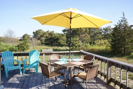 Truro Cape Cod vacation rental - Ready for outdoor dining.