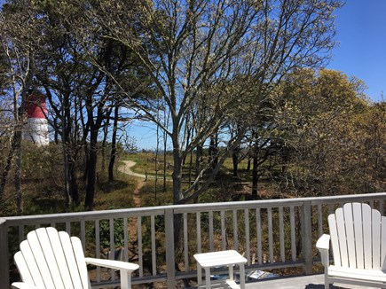 Eastham Cape Cod vacation rental - Upper deck with view of lighthouse and ocean