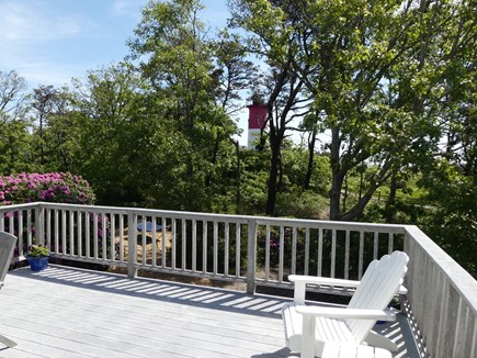 Eastham Cape Cod vacation rental - Deck with view of Nauset Lighthouse