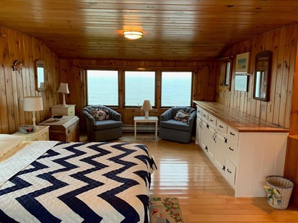Chatham Cape Cod vacation rental - Upstairs Master bedroom w/queen bed, water views & sitting area