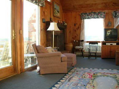 Chatham Cape Cod vacation rental - Family Room - ocean view from sliders, wetlands from side window