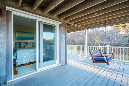 South Wellfleet Cape Cod vacation rental - Deck with porch swing
