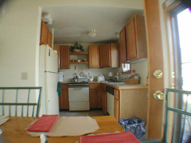 Provincetown Cape Cod vacation rental - Kitchen from dining area