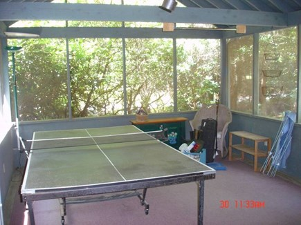 Marstons Mills Marstons Mills vacation rental - Screen Porch with Ping Pong Table and Outdoor Games