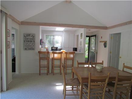 New Seabury, Mashpee New Seabury vacation rental - Here's the living room looking into the kitchen