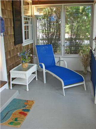 Harwich Port at Bank St. Beach Cape Cod vacation rental - Relax on the private Three Season Porch