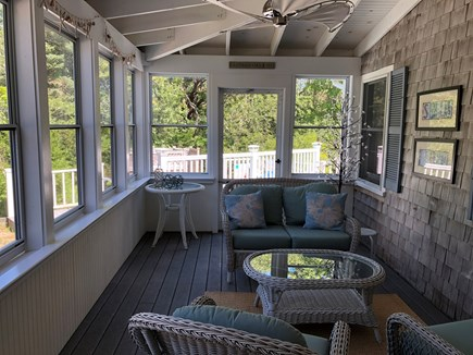 Eastham Cape Cod vacation rental - Screened in porch for a little extra relaxation...