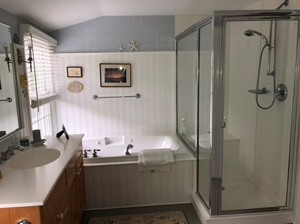 Eastham Cape Cod vacation rental - Spacious Master Bath, separate jetted tub and shower, lg closet