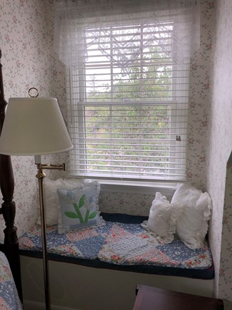 Eastham Cape Cod vacation rental - Master Bedroom window seat for a quiet read