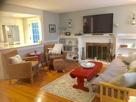 Dennis Cape Cod vacation rental - Living room with conversational seating and flat screen TV