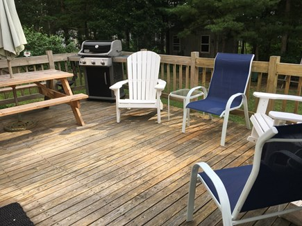 Dennis Cape Cod vacation rental - Enjoy outdoor dining overlooking the backyard