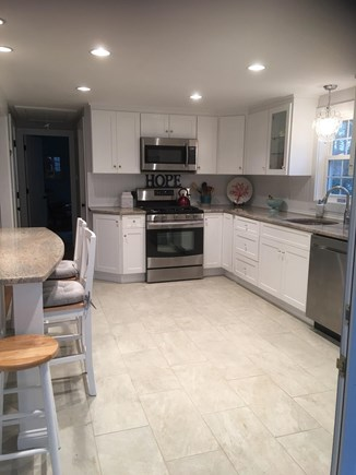 Dennis Cape Cod vacation rental - Large newly renovated kitchen with  stainless steal appliances