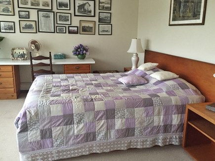 Truro Cape Cod vacation rental - Master bedroom and sitting area; magnificent views & ventilation