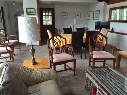 Truro Cape Cod vacation rental - Open living/dining with beautiful views of the Bay