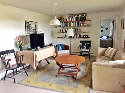 Truro Cape Cod vacation rental - Large entry-level playroom/family room with TV & VCR