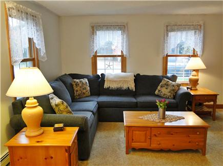 East Falmouth Cape Cod vacation rental - Living room opens to dining area and kitchen