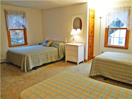 East Falmouth Cape Cod vacation rental - Upstairs bedroom with double bed and two twins