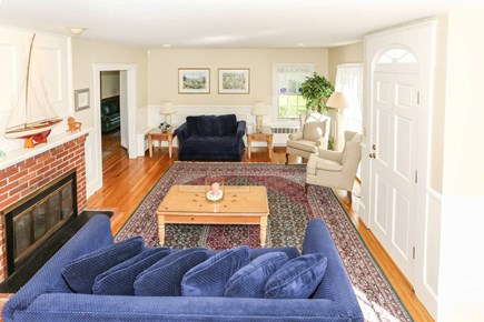 West Harwich Cape Cod vacation rental - Living Room to Dining Room and Deck