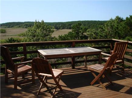 Wellfleet Cape Cod vacation rental - Deck with absolutely beautiful views overlooking Nat'l seashore