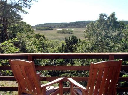 Wellfleet Cape Cod vacation rental - Deck abutts open land with Herring River and nature abounds