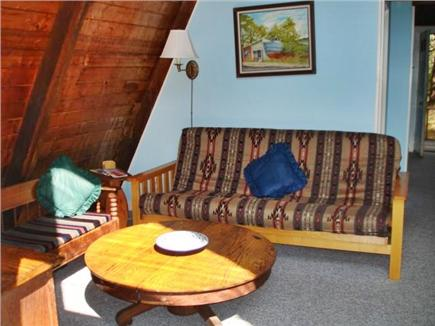 Wellfleet Cape Cod vacation rental - Living area with sliders to private deck