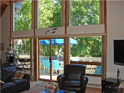 Wellfleet Cape Cod vacation rental - Large living room windows provide bright and sunny interior