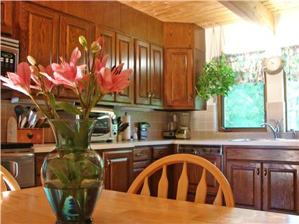 Wellfleet Cape Cod vacation rental - Kitchen area with sitting area, adjacent to laundry room