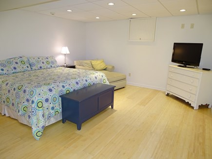 Brewster Cape Cod vacation rental - Lower level king bedroom with flat screen TV