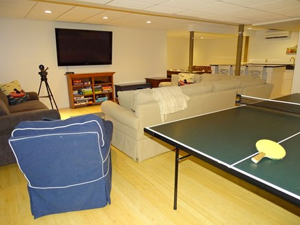 Brewster Cape Cod vacation rental - Lower level rec room with ping pong, TV, kitchen and other games
