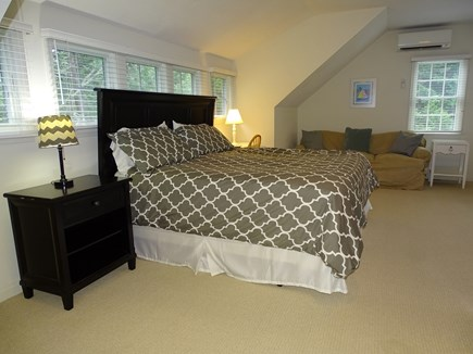 Brewster Cape Cod vacation rental - King bedroom upstairs w/ trundle bed, TV, private bath - sleeps 4