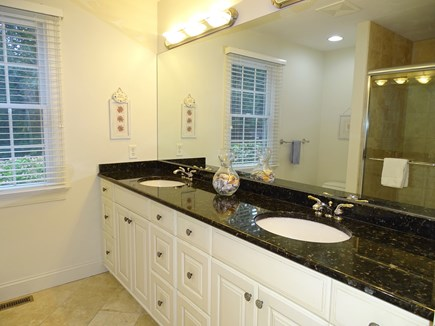 Brewster Cape Cod vacation rental - Master bedroom bath with new walk-in glass shower