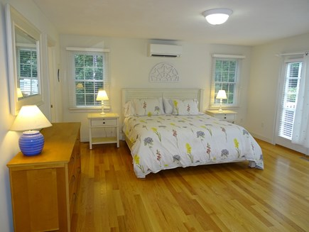 Brewster Cape Cod vacation rental - King sized master bedroom with private bath, door to deck